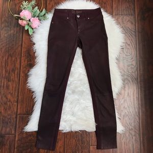 DL1961 Emma Skinny Lamb Leather Front Panel Jeans